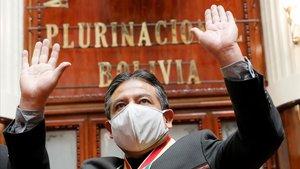 Luís Arce tras asumir el cargo de presidente de Bolivia.