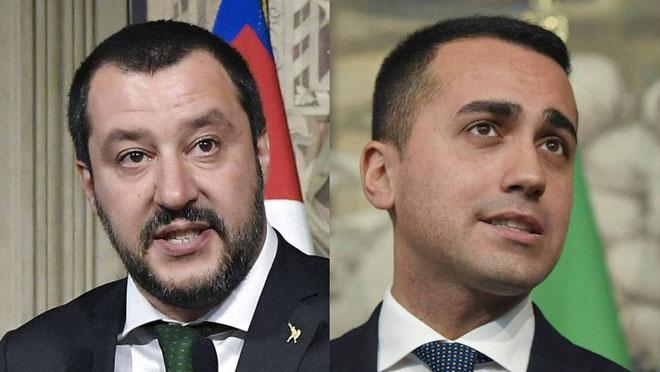 Matteo Salvini y Luigi Di Maio, cierran un pacto de gobierno que incluye una renta de ciudadanía de 780 euros al mes