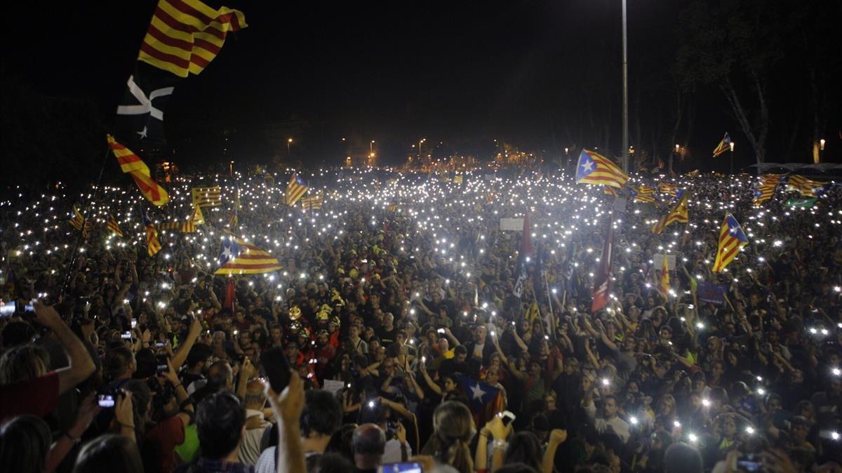 Manifestación en Girona.