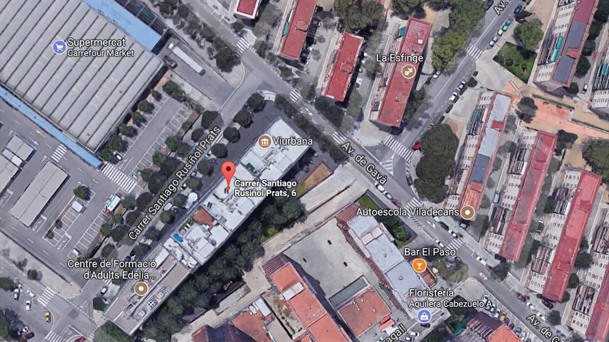 Mapa de Google que muestra la calle Santiago Rossinyol i Prats, número 6, donde se ha producido la explosión.