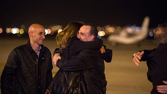 Marc Marginedas llega a Barcelona tras seis meses de secuestro en Siria.