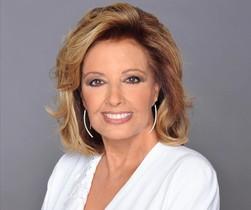 La periodista María Teresa Campos, presentadora de ¡Qué tiempo tan feliz!, en Tele 5 y protagonista de Las Campos.