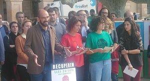Maties Secarrant, alcalde de Sabadell, apoya el manifiesto del grupo promotor de la Ley de Vivienda.
