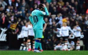 Lionel Messi en un partido del Baercelona.