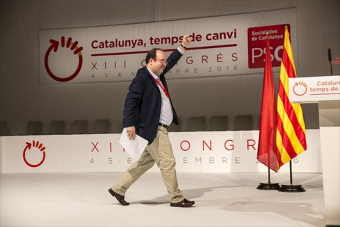 Miquel Iceta, ayer durante el XIII congreso del PSC.