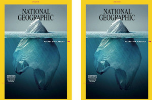 La portada de National Geographic que denuncia la contaminación de los océanos con plástico.