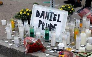 Un altaren honor deDaniel Prude, un hombre afroamericano que murió por labrutalida policial en Nueva York.