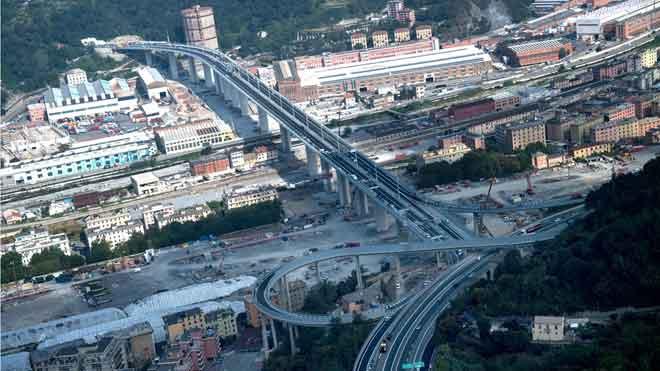 El nuevo puente de Génova se inaugura dos años después del derrumbe.