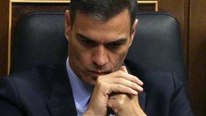 Pedro Sánchez, en la segunda jornada del debate de los Presupuestos, el pasado día 13.