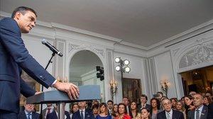 Pedro Sánchez en la embajada española en Nueva York.
