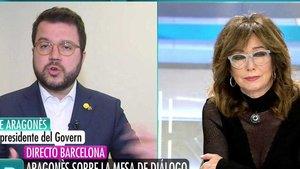 Tensió entre Ana Rosa i el vicepresident de la Generalitat per la independència: «S'ha de començar a llegir des del principi»