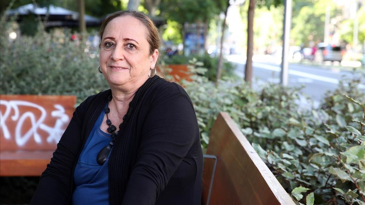 La periodista Gabriela Selser, durante su estancia en Barcelona.