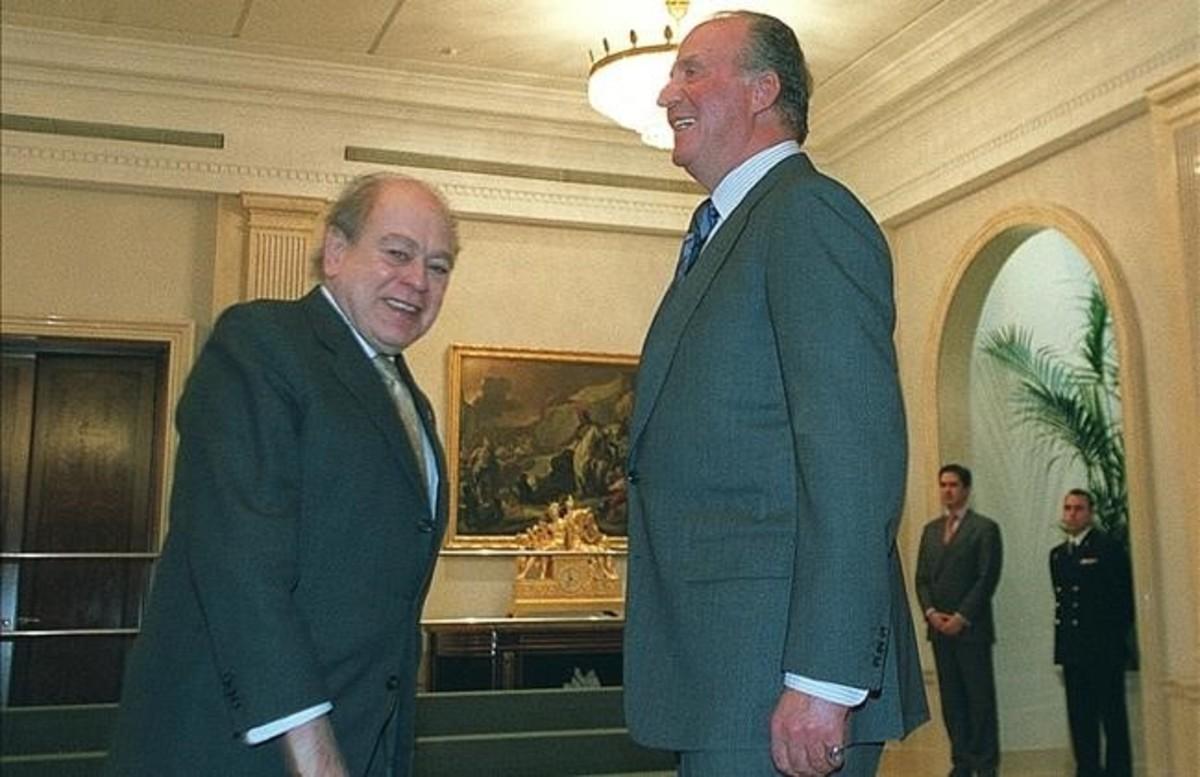 El rey Juan Carlos y Jordi Pujol, en el 2003.