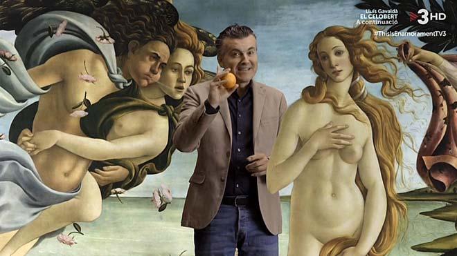 Ramon Gener, con la Venus de Botticelli.