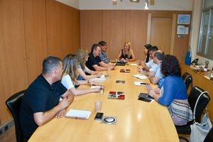 Reunión de la alcaldesa de Rubí con los concejales del equipo de gobierno.