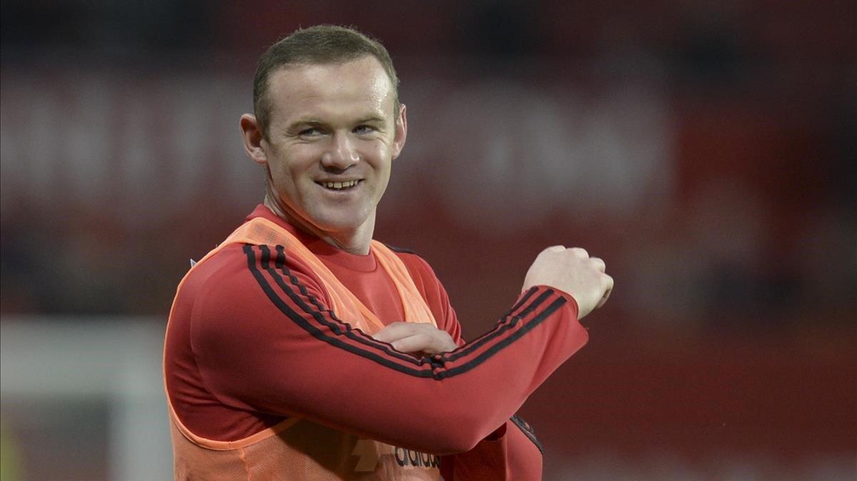 Rooney, en un entrenamiento cuando jugaba en el United.