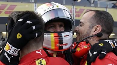 Vettel sigue sometiendo a los dos Mercedes
