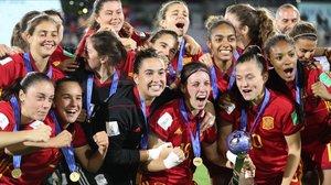 La selección española sub-17, flamante campeona del mundo de fútbol.