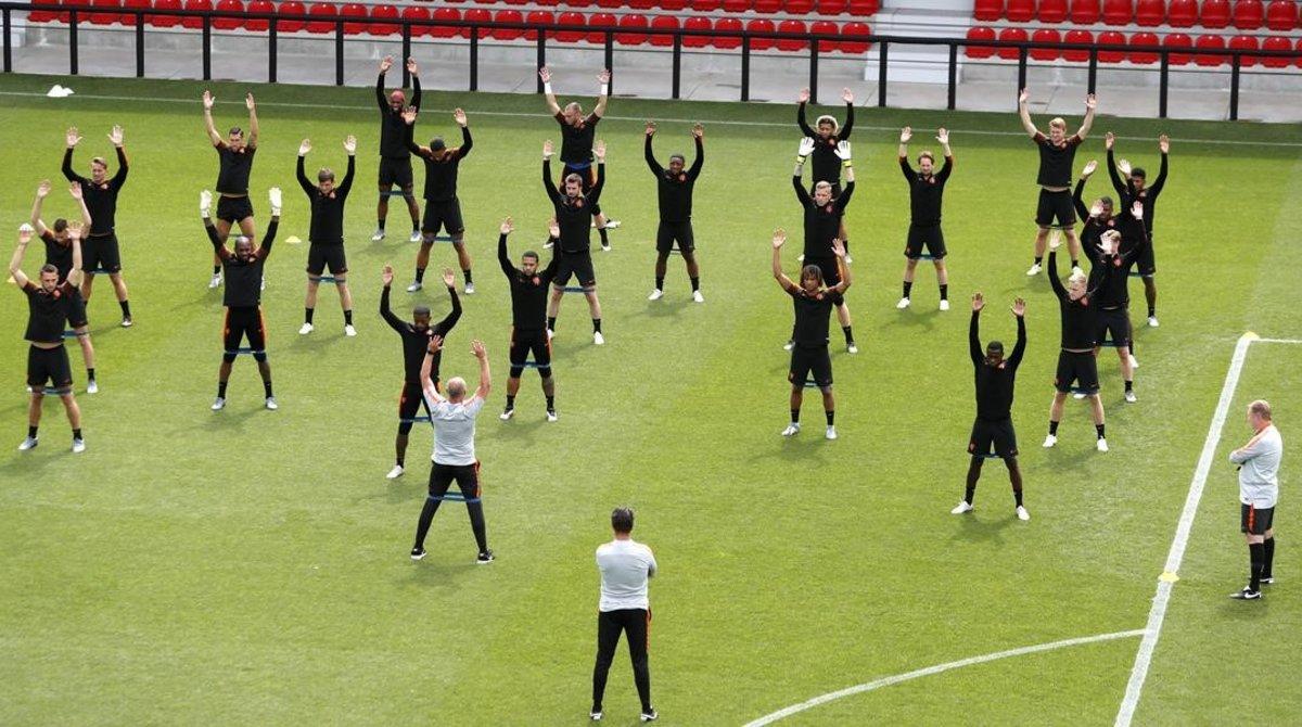 La selección holandesa se entrena en Braga.