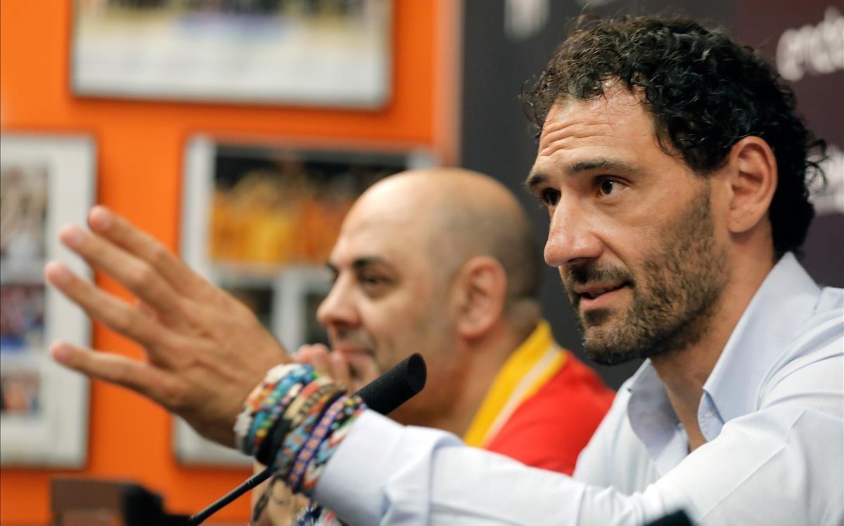 El seleccionador Lucas Mondelo y Garbajosa, durante la presentación del torneo de Valencia