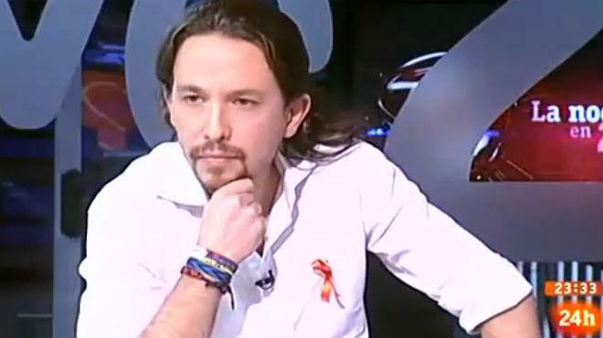 Sergio Martín da la enhorabuena a Pablo Iglesias por la liberación de etarras en La noche en 24 horas de TVE