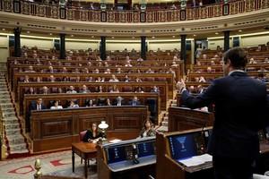 El Congreso durante la intervención dePablo Casado en una sesión de control.