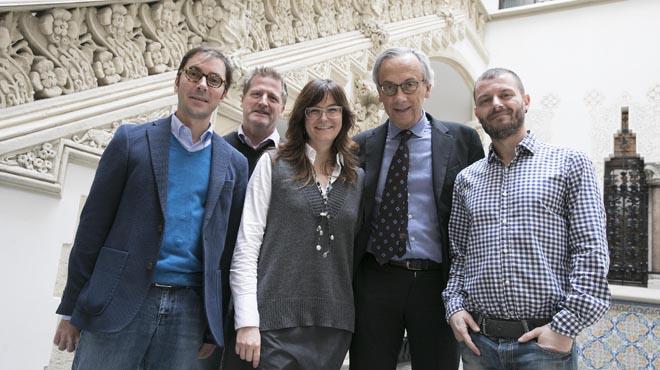 José Moltó, Beatriz Mothe, Christian Brandeer i Bonaventura Clotet, divendres passat a Barcelona.