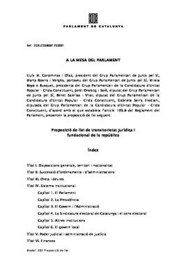 Texto de la proposición de ley de transitoriedad jurídica y fundacional de la república