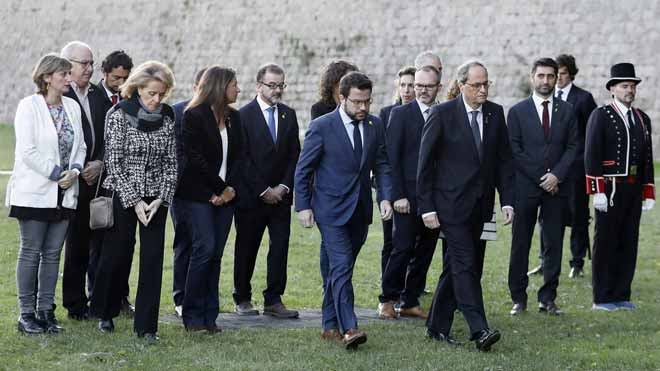 Torra dice ' Ho tornarem a fer', en el homenaje al President Lluís Companys en Montjuïc.