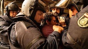 Una escena de la serie 'Antidisturbios'.