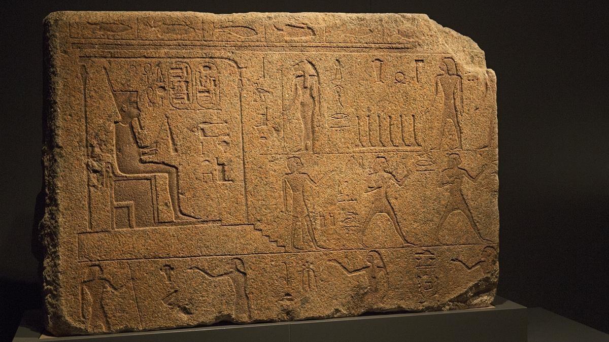 Una de las piezas de la muestra Faraón, en CaixaForum.