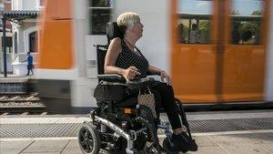 Una mujer con discapacidad física, en una imagen de archivo.