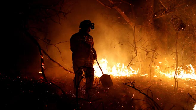 Els incendis forestals a Astúries s'eleven a gairebé un centenar