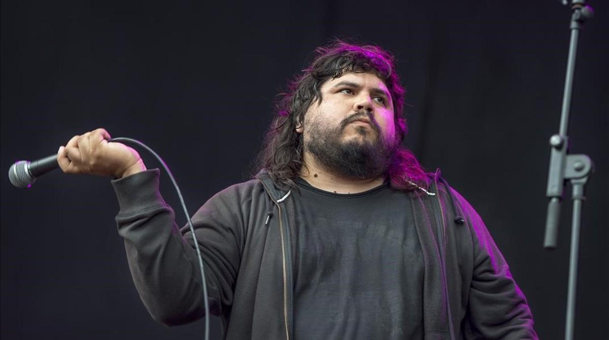 Santiago Barrionuevo, cantante de Él Mató a un Policía Motorizado.