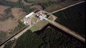 El obsertvatorio de ondas gravitacionales LIGO, en Livingston (Estados Unidos).