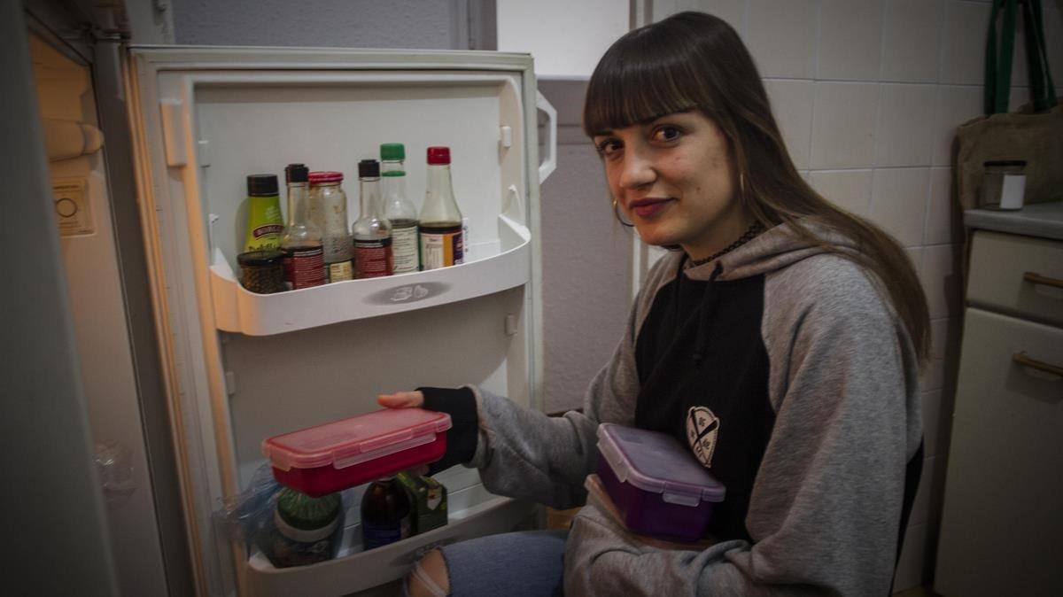 Isabel Sanuy, estudiante de Biología y participante en la iniciativa de ReZero sobre reducción de residuos.