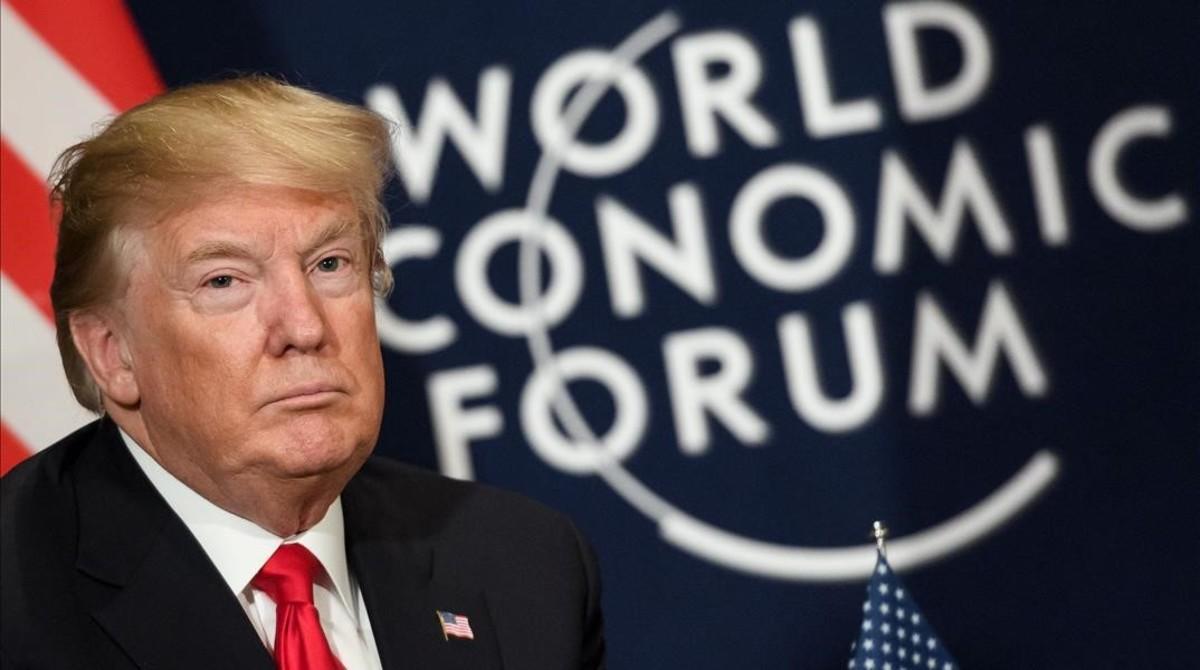 Trump, en Davos.