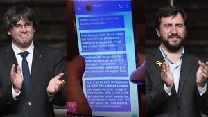 Signal: així funciona l''app' dels missatges secrets de Puigdemont i Comín