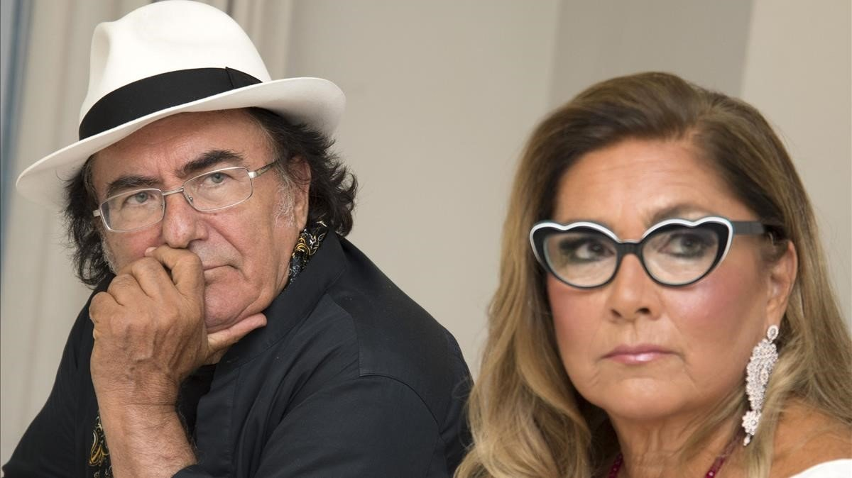 Romina Power y Al bano.
