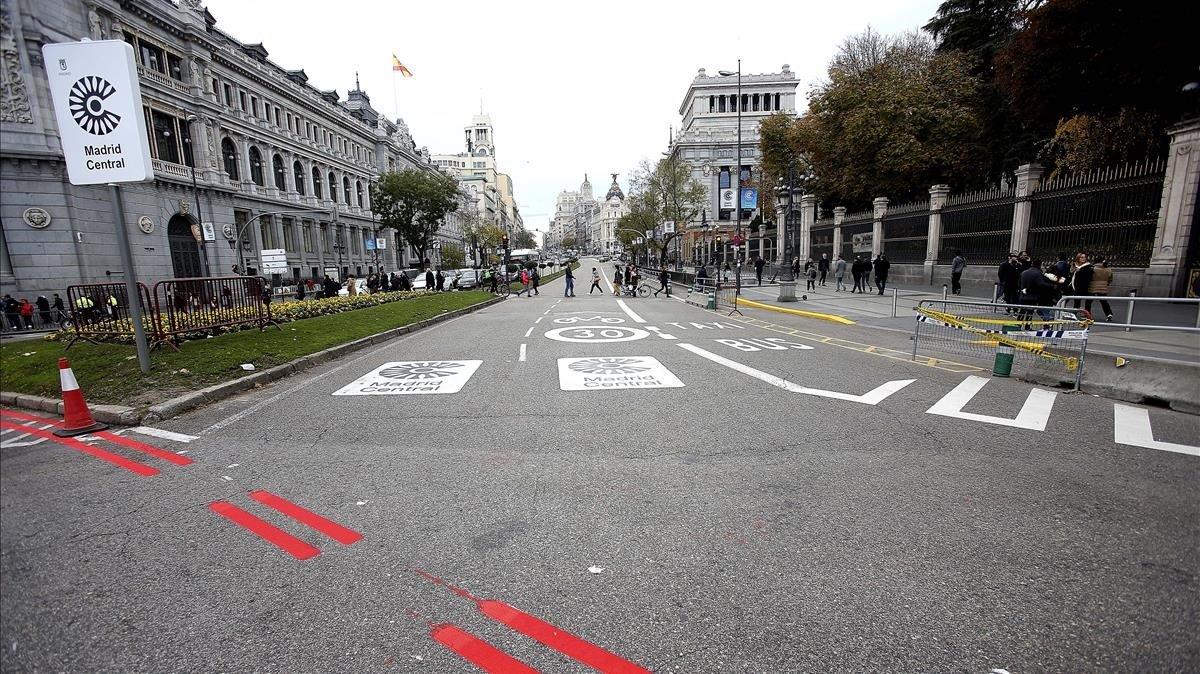 Madrid Central és la zona de baixes emissions més eficient d'Europa