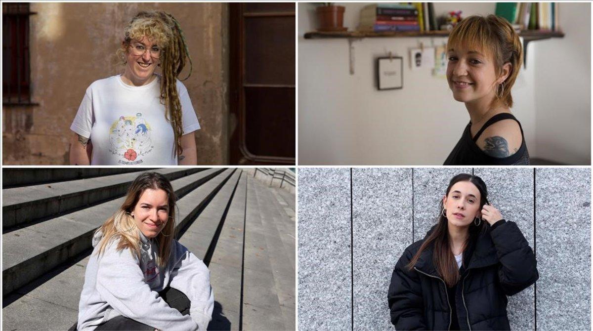 Gisela Escat, Raquel Martínez, Carmen Sánchez y Alejandra Martínez de Miguel
