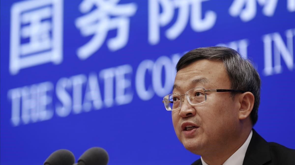 Wang Shouwen, ministro chino de Ccomercio.