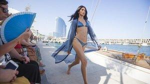 La diseñadora Laura Vecino presentó a finales de junio en la pasarela de080 Barcelona Fashion su primera colección de baño.