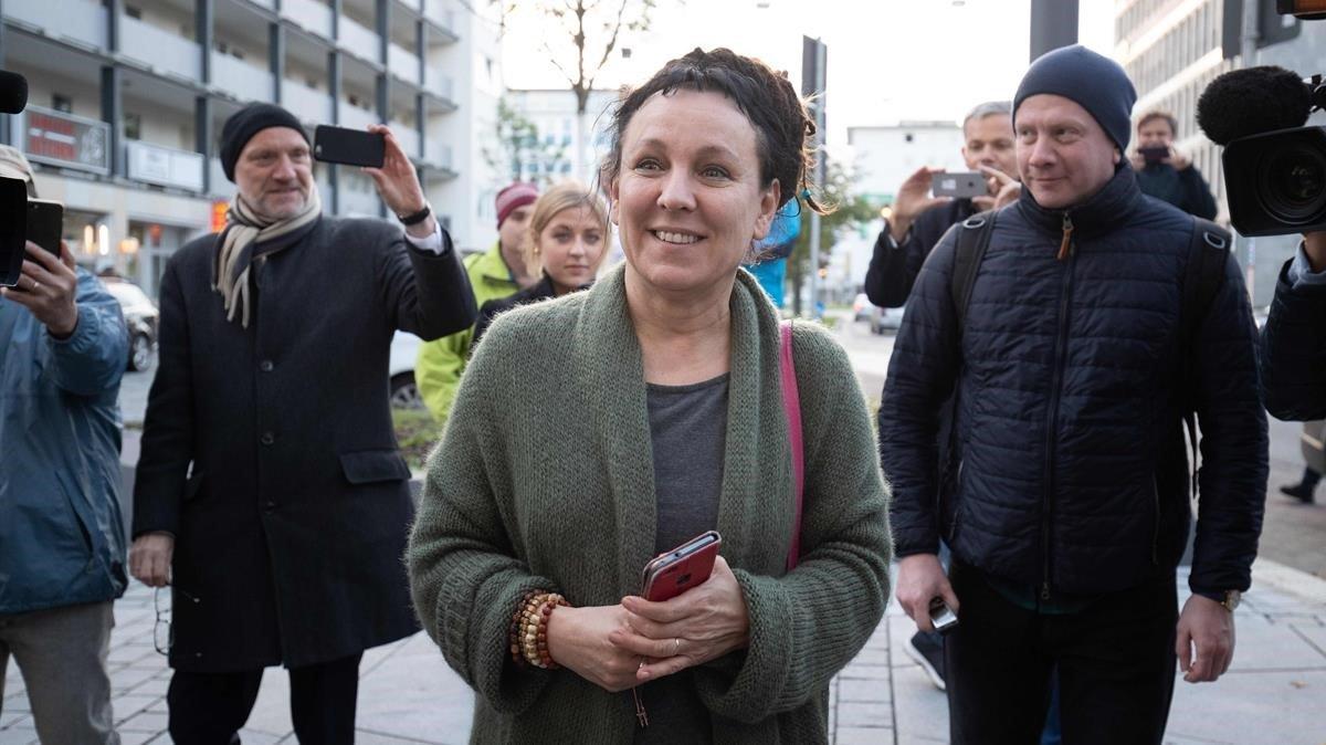 Olga Tokarczuk, ganadora del Premio Nobel de Literatura del 2018, en Bielefeld, Alemania, hace dos semanas.