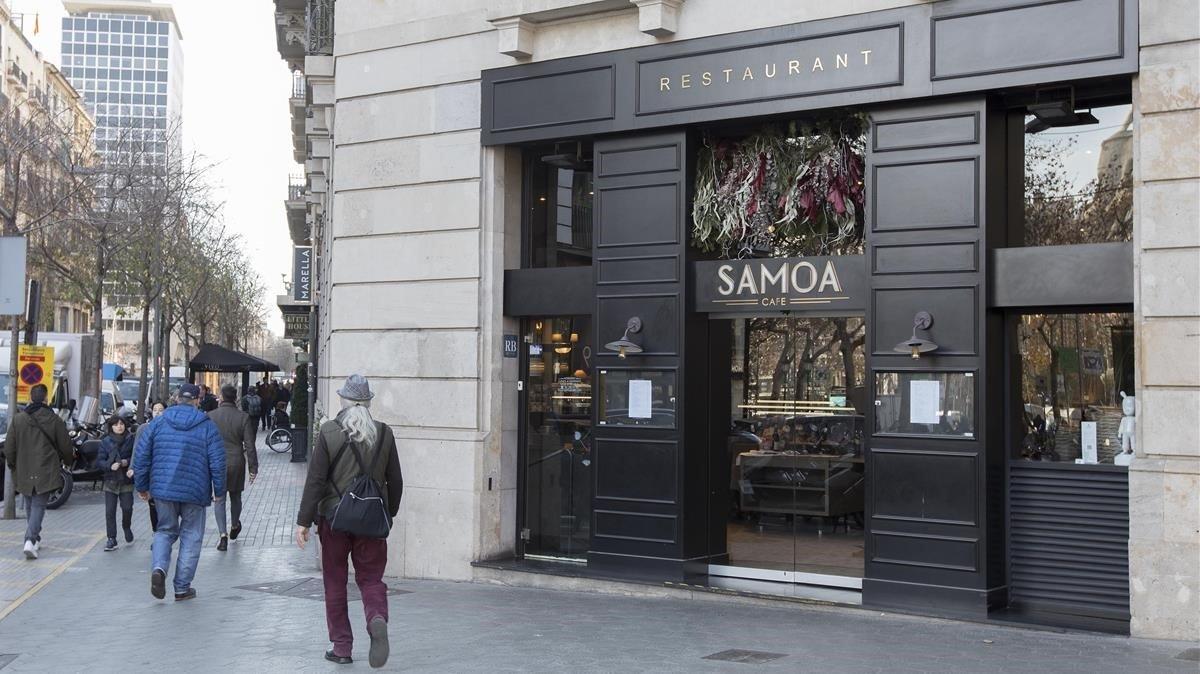 El restaurante Samoa, en Barcelona, ha bajado la persiana recientemente.