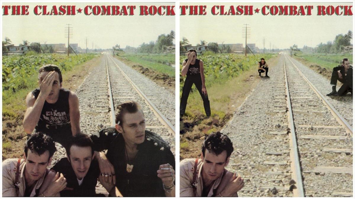 La portada original de 'Combat rock', de The Clash, y la versión distanciamento social de Activist.