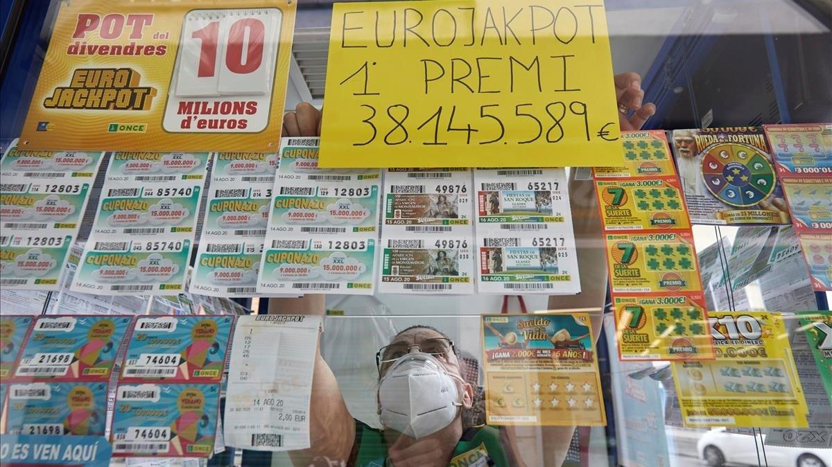Un jugador de Girona guanya 38 milions amb l'Eurojackpot de l'ONCE