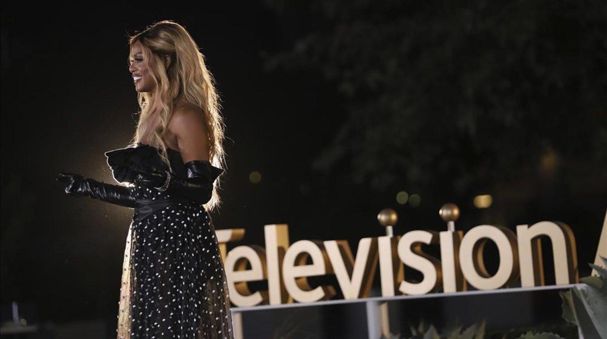 Laverne Cox, en la entrega de uno de los Emmy técnicos que se llevan a cabo a lo largo de la semana.