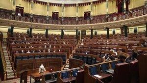 Hemiciclo del Congreso, durante el pleno del 1 de octubre.