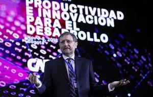 BOGOTACOLOMBIA- El vicepresidente de Conocimiento de CAFPablo Sanguinettipresenta el reporte de economia y desarrollo 2018durante la conferencia anual del Banco de Desarrollo de America Latina - CAF. EFE Mauricio Duenas Castaneda